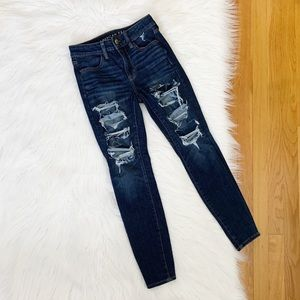 American Eagle | High Rise Distressed Jegging